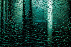 Broken damaged glass Royalty Free Stock Photo