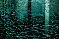 Broken damaged glass Stock Photos