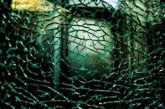 Broken damaged glass Royalty Free Stock Photos