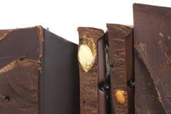 Broken dark chocolate Stock Photo