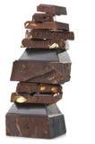 Broken dark chocolate Stock Photos