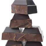 Broken dark chocolate Stock Image