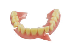 Broken denture isolate on white background Stock Images