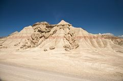 Broken desert mountain Royalty Free Stock Image