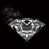 Broken diamond Royalty Free Stock Photography