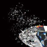 Broken diamond Royalty Free Stock Images