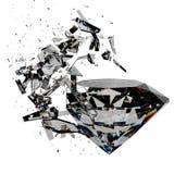 Broken diamond Stock Photos