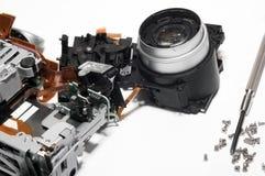 Broken digital camera Royalty Free Stock Image