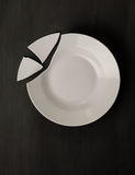 Broken dish Royalty Free Stock Photo