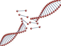 Broken dna Royalty Free Stock Image