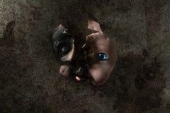 broken dockaframsida Royaltyfria Bilder