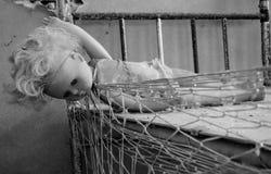 Broken doll in Pripyat Stock Image