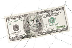 Broken_dollar Royalty Free Stock Photo
