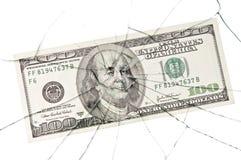 Broken_dollar Royalty Free Stock Photo