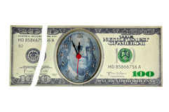 Broken dollar clock Stock Image