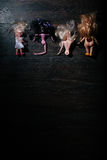 Broken dolls. flat lay Stock Photography