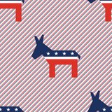 Broken donkeys seamless pattern on red and blue. Broken donkeys seamless pattern on red and blue stripes background. USA presidential elections patriotic Stock Image