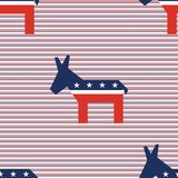 Broken donkeys seamless pattern on red and blue. Broken donkeys seamless pattern on red and blue diagonal stripes background. USA presidential elections Royalty Free Stock Images