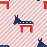 Broken donkeys seamless pattern on red stripes. Broken donkeys seamless pattern on red stripes background. USA presidential elections patriotic wallpaper Stock Photography