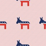Broken donkeys seamless pattern on red stripes. Broken donkeys seamless pattern on red stripes background. USA presidential elections patriotic wallpaper Royalty Free Stock Photography