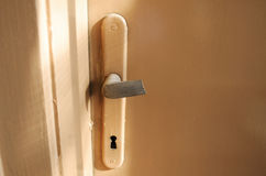 Broken door handle Stock Images