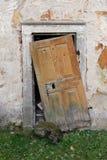 Really broken door Stock Photography