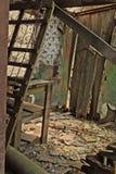 Broken Door. Interior of an abandoned home in the backwoods of West Virginia Stock Photography