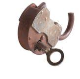 The broken door-lock Royalty Free Stock Images
