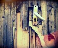 Broken door Stock Image