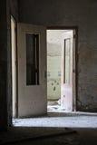 Broken doors Stock Image