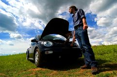 Broken Down Car Stock Images