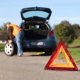 Broken down car Stock Photography