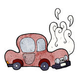 Broken down car cartoon Stock Photo