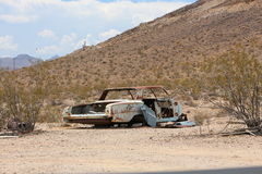 Broken down car. Broken down and rusty car in Rhyolite Stock Photos