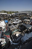 Broken Down Cars At Junkyard Stock Photos