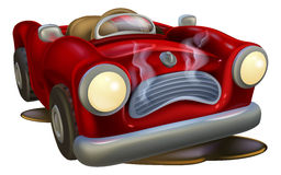 Broken down cartoon car Royalty Free Stock Photography