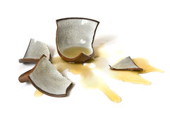 Broken-down cup Stock Image