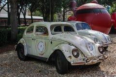 Broken down Herbie the Love Bug, Hollywood Studios, Orlando, FL Royalty Free Stock Images