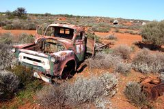 Broken down truck in West Australian outback Royalty Free Stock Images