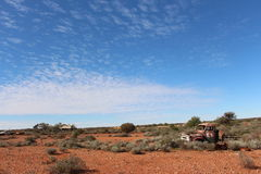 Broken down truck in West Australian outback Royalty Free Stock Image