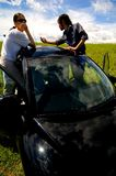 Broken Down Vehicle Royalty Free Stock Photos
