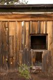 Broken Down Wooden Shack with Weatherd Lumber Stock Image