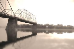 Broken dreams. An historic bridge in harrisburg, pennsylvania royalty free stock images