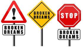 Broken dreams Royalty Free Stock Image