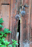 broken dörr Arkivbild