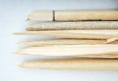 Broken drum sticks Royalty Free Stock Photo