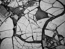 Broken. Dry ground in Purros desert, Namibia Stock Photography