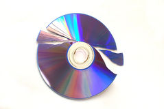 Broken DVD Stock Photo