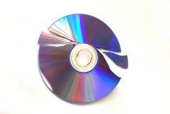Broken DVD. ฺDVD was broken in many part Stock Photo