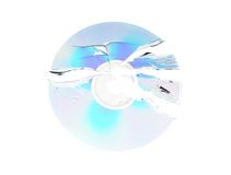 Broken dvd disc Stock Image